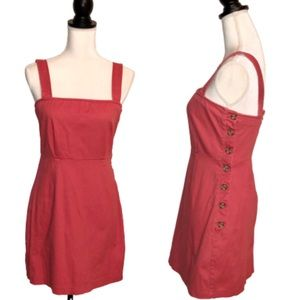 FOREVER 21 Square Neck Buttoned Overall Dress